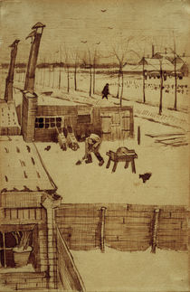 V. v. Gogh, View from Artist's Studio / Draw. by AKG  Images