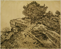 V. v. Gogh, Der Felsen von Montmajour von AKG  Images
