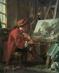 F.Boucher, The Painter in his studio by AKG  Images