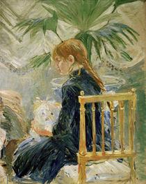 B.Morisot, Mädchen mit Hund (2. Fragment) von AKG  Images