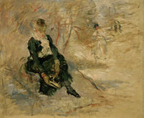 B.Morisot, Woman putting on ice skates by AKG  Images
