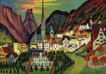 E.L.Kirchner, Davos with Church by AKG  Images