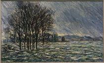 C.Monet, Hochwasser, 1881 von AKG  Images