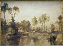 W.Turner, Haus am Fluß mit Bäumen... von AKG  Images
