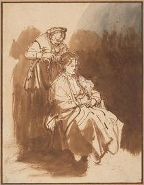 Rembrandt, Junge Frau wird firsiert by AKG  Images
