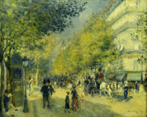 Paris / The Grand Boulevards / Painting by AKG  Images