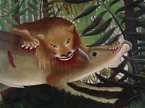Rousseau, H. / The Hungry Lion / Detail by AKG  Images