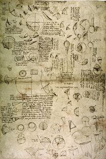 Leonardo / Squaring the Circle / Fol. 121 r by AKG  Images