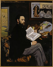 Emile Zola / Painting by E. Manet by AKG  Images