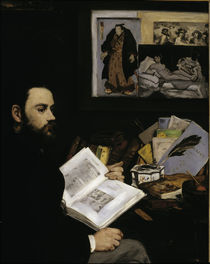 Emile Zola / Painting by E.Manet by AKG  Images