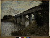 Claude Monet / Railway Bridge at Argent. by AKG  Images