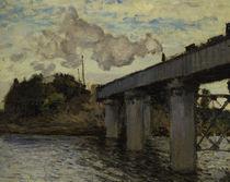 C.Monet, Eisenbahnbrücke Argenteuil/1873 von AKG  Images