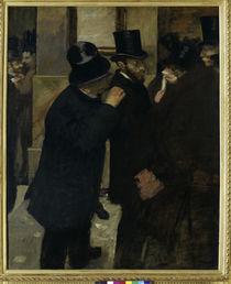 Edgar Degas, Portraits a la Bourse /1878 von AKG  Images