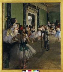 Edgar Degas, La classe de danse /1873–76 von AKG  Images