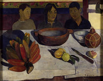 Gauguin / The Meal (or Bananas), Tahitian boys at table by AKG  Images