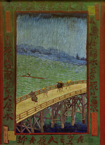 van Gogh after Hiroshige, Bridge in rain by AKG  Images