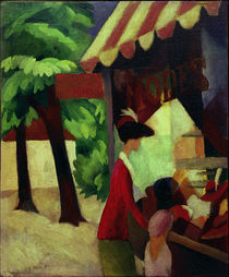 August Macke / In Front of the Hat Shop by AKG  Images