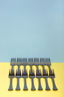 A very simple still life with forks by Valentin Ivantsov