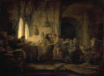 Rembrandt / Workers in the Yineyard by AKG  Images