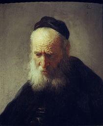 Rembrandt / Head of an old man by AKG  Images
