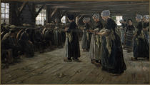 M.Liebermann / Flax Barn at Laren / 1887 by AKG  Images