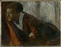 E.Degas, Melancholie, Junge Frau im Lehn von AKG  Images