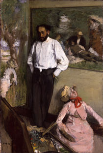 Degas / Artist in studio /  c. 1873 by AKG  Images