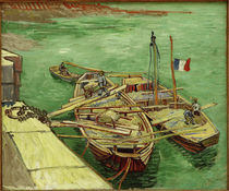 V. v. Gogh / Barges on the Rhone River by AKG  Images