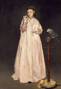 Lady with Parrot / É.Manet / Painting, 1866 by AKG  Images