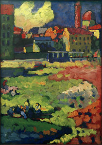 Munich - Edge of Town / W. Kandinsky / Painting 1908 by AKG  Images