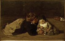 M. Liebermann, Geschwister - Spielende Kinder von AKG  Images