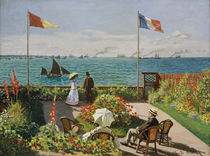 Claude Monet, garden in Sainte-Adresse by AKG  Images