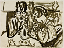E.L.Kirchner / Couple at the Table by AKG  Images