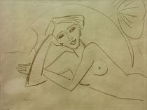 E.L.Kirchner, Nacktes liegendes Mädchen von AKG  Images