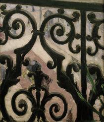 G.Caillebotte, Blick durch Balkongitter von AKG  Images
