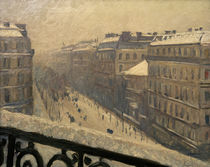 G.Caillebotte, Boul. Haussmann in snow by AKG  Images