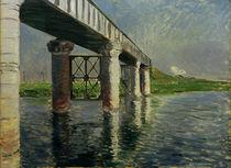 G.Caillebotte, Seine und Eisenbahnbrücke von AKG  Images