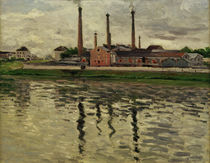 Caillebotte / Factories in Argenteuil by AKG  Images