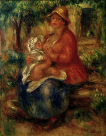 Renoir / Aline Charigot nursing child by AKG  Images