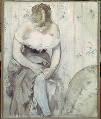 Manet / Die Frau mit dem Strumpfband/1878 von AKG  Images