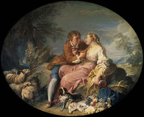 F.Boucher / Pastoral / 1740 / Painting by AKG  Images