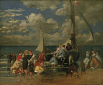 Renoir / Meeting around a boat / 1862 by AKG  Images