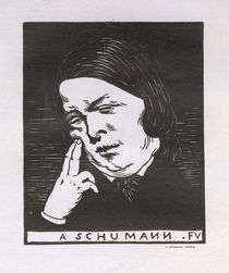 R.Schumann / Woodcut by F.Vallotton/ 1893 by AKG  Images