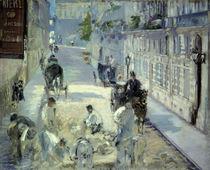 Manet / La Rue Mosnier aux paveurs/1878 von AKG  Images