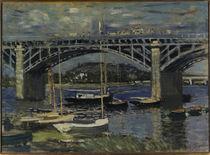 Claude Monet / Railway Bridge at Argent. by AKG  Images