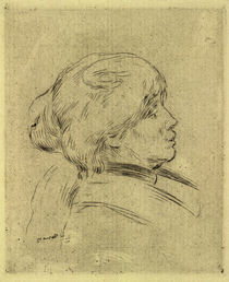 Berthe Morisot / Etching by A. Renoir by AKG  Images