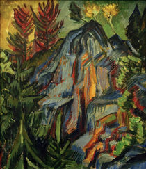 Ernst Ludwig Kirchner, Landscape with blue rocks and waterfall by AKG  Images