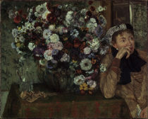 Degas / Woman with chrysanthemums / 1865 by AKG  Images