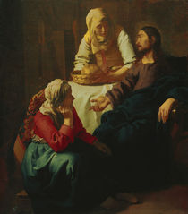 Vermeer, Christus bei Maria und Martha von AKG  Images