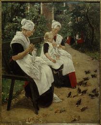 M. Liebermann, Amsterdamer Waisenmädchen im Garten by AKG  Images